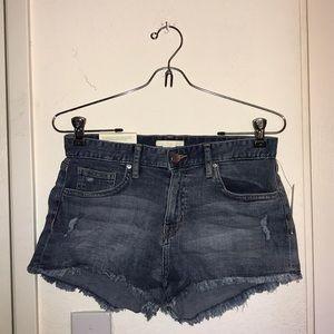 H&M Distressed Jean Shorts